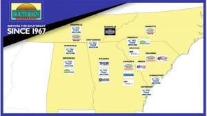 Map of Southern Industries Locations